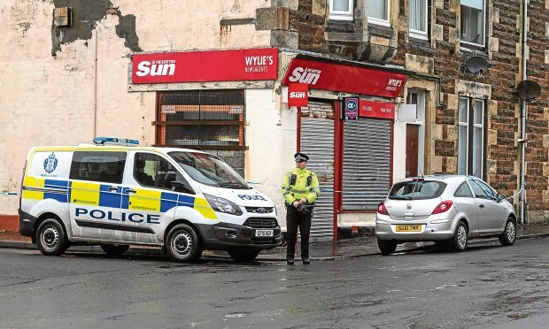 The shop in Saltcoats at the centre of an incident. (Colin Templeton)