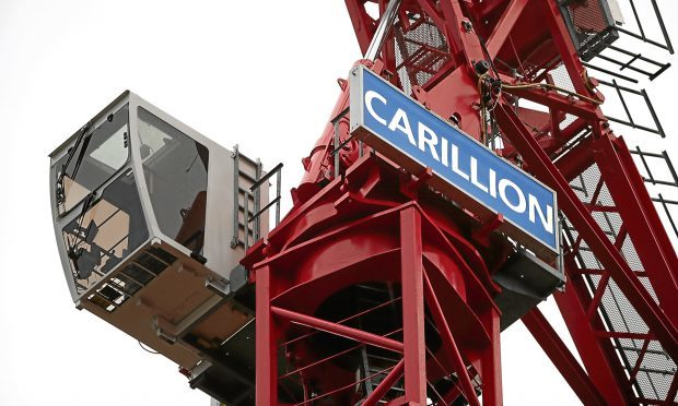 A Carillion crane at a construction site in London last week (Yui Mok/PA Wire)