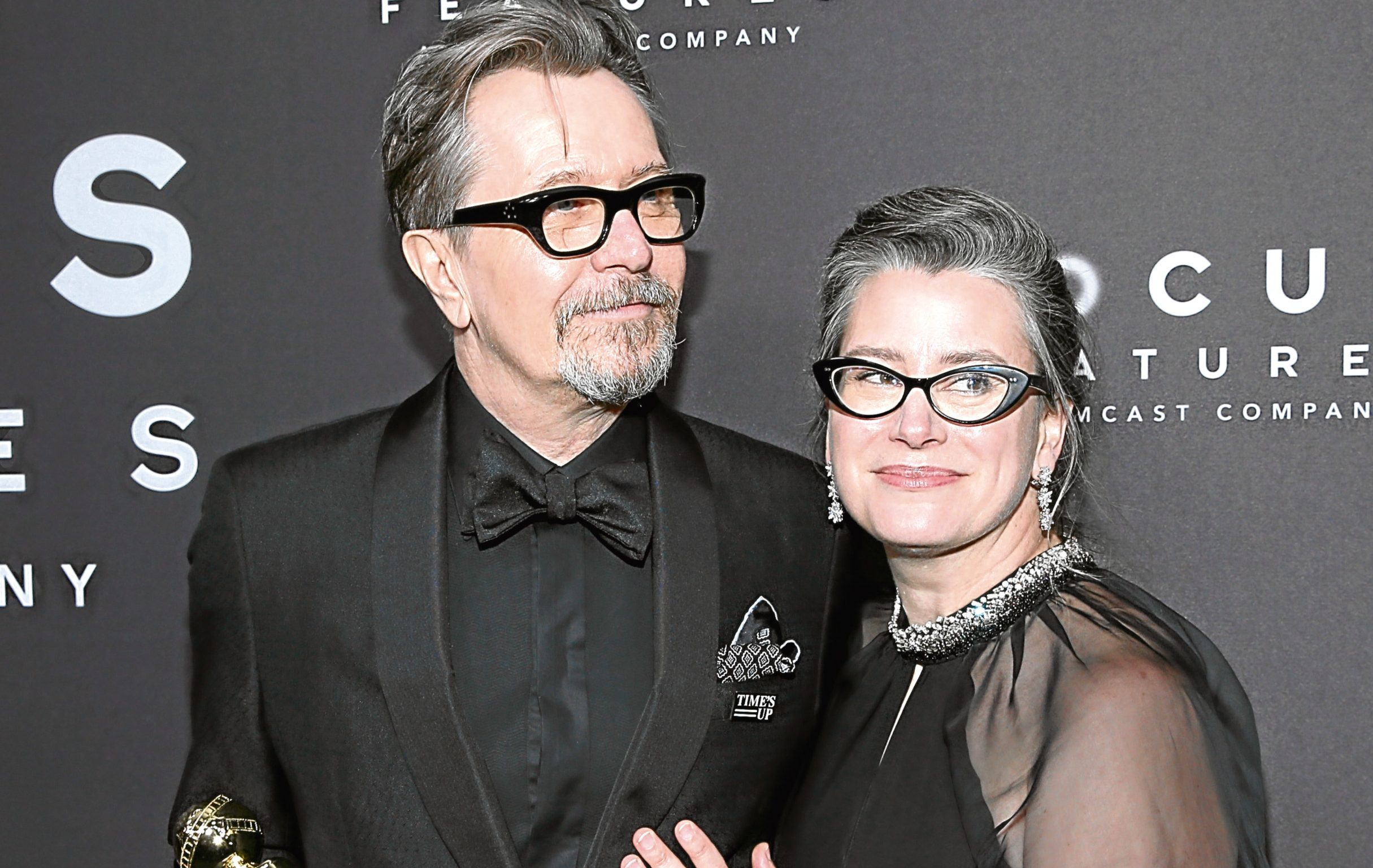 Gary Oldman, pictured with his wife Gisele Schmidt (Philip Faraone / Getty Images)
