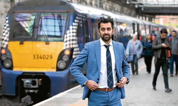 Transport Minister Humza Yousaf at Edinburgh Waverley station (Jane Barlow/PA Wire)