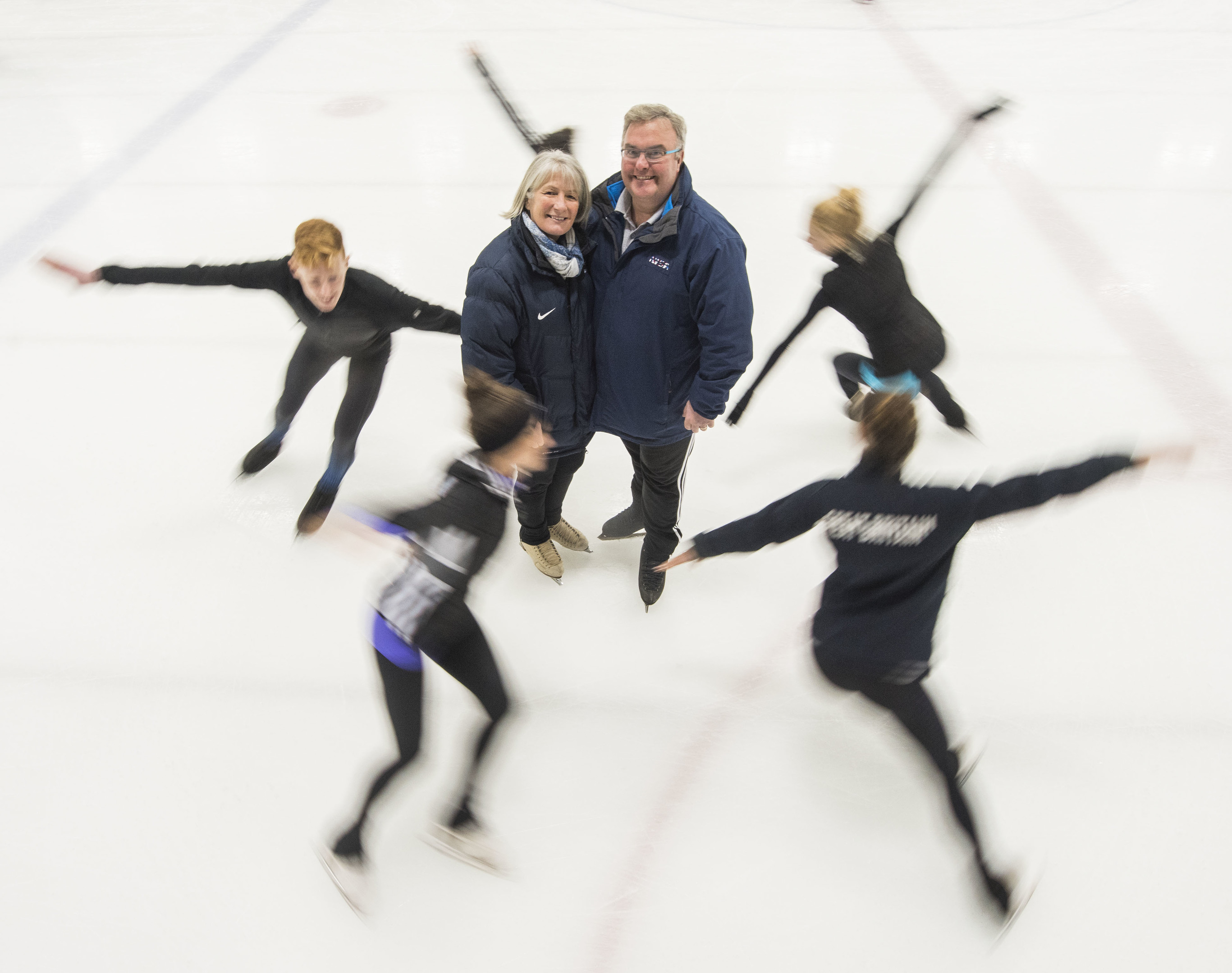 Ice skating coaches Simon and Debi Briggs at Dundee Ice Arena (Alan Richardson/ Pix-AR.co.uk)