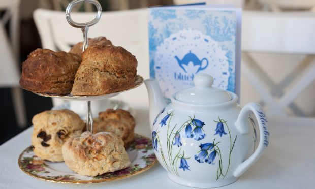 Treacle, plain, fruit and apple and nutmeg scones. Bluebell Tea Room, Stirling. (Tina Norris)