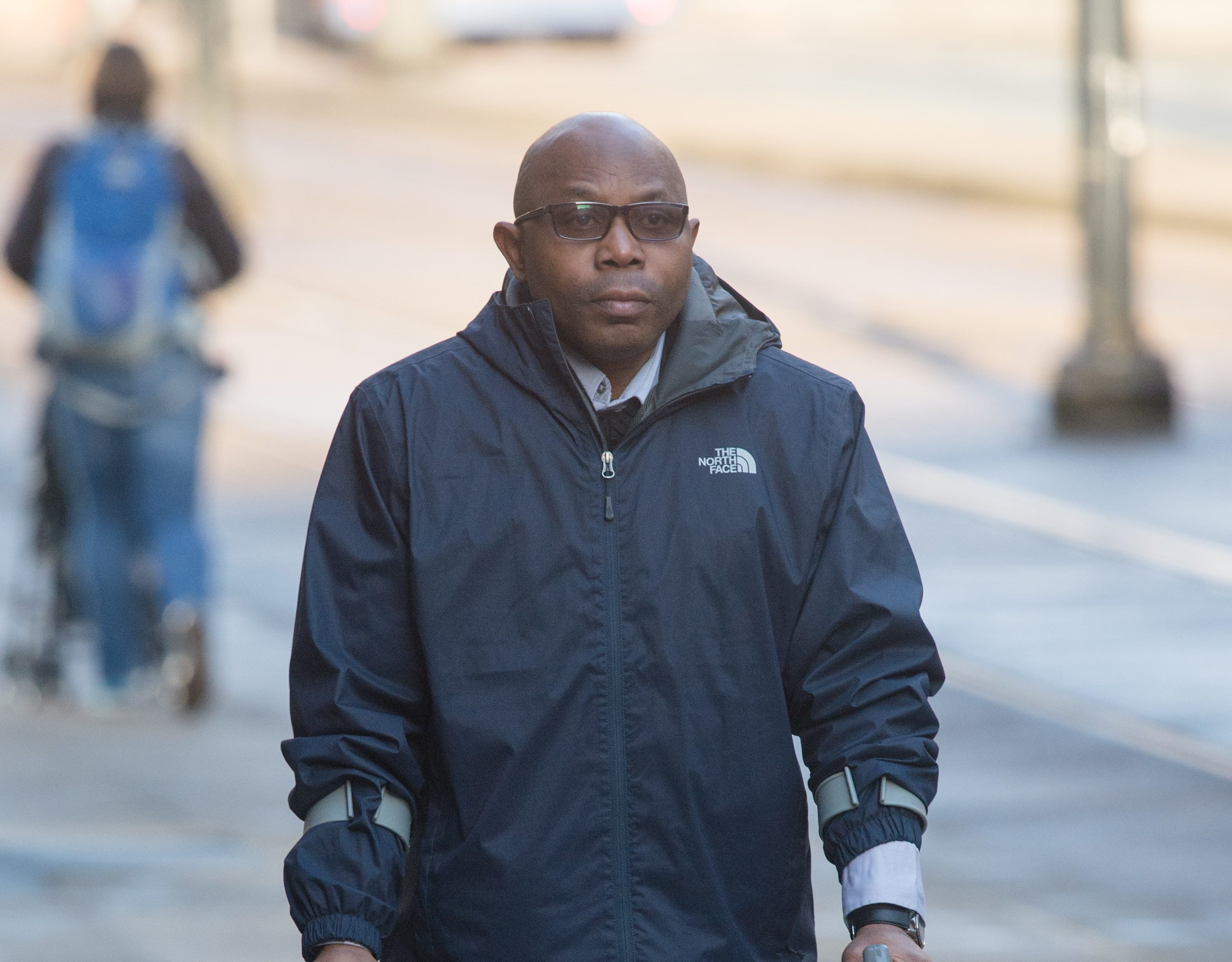 Dr Chizoro Edohasim arriving at court where he was jailed for four years for causing death by dangerous driving after a collision which killed his nine year old daughter Olivia and injured his other daughter. (Cavendish Press)