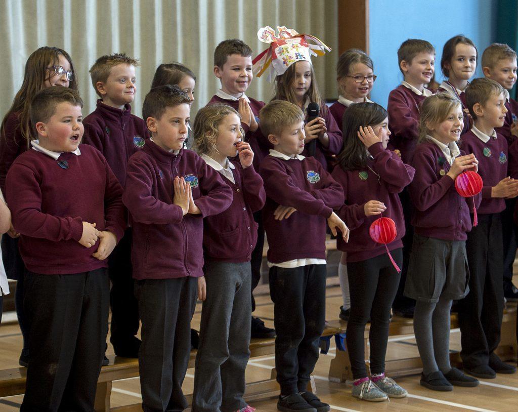 Drakies pupils entertain their Cafe guests (Trevor Martin)