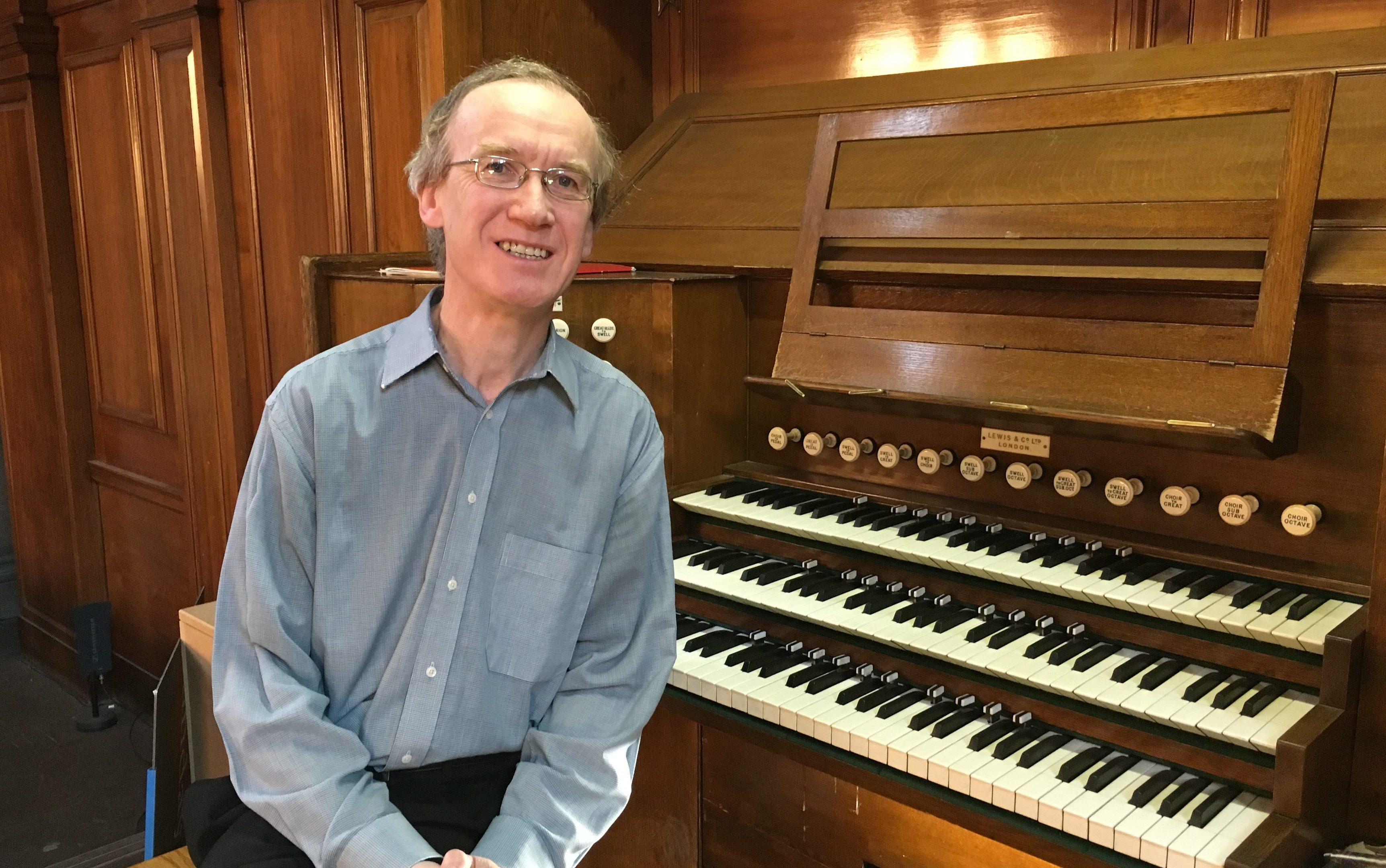 Chris Nickol, one of Kelvingrove's organists (Ross Crae / DC Thomson)