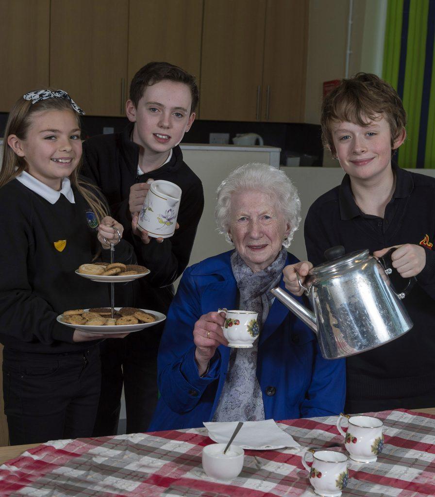Serving tea at the community cafe (Trevor Martin)