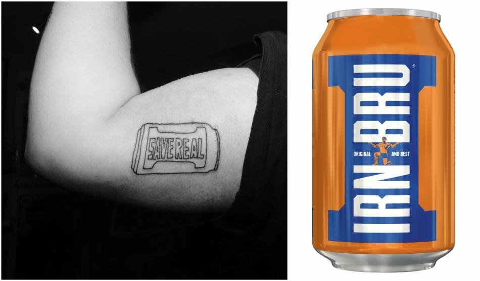 Lee Jones now has an Irn Bru tattoo!