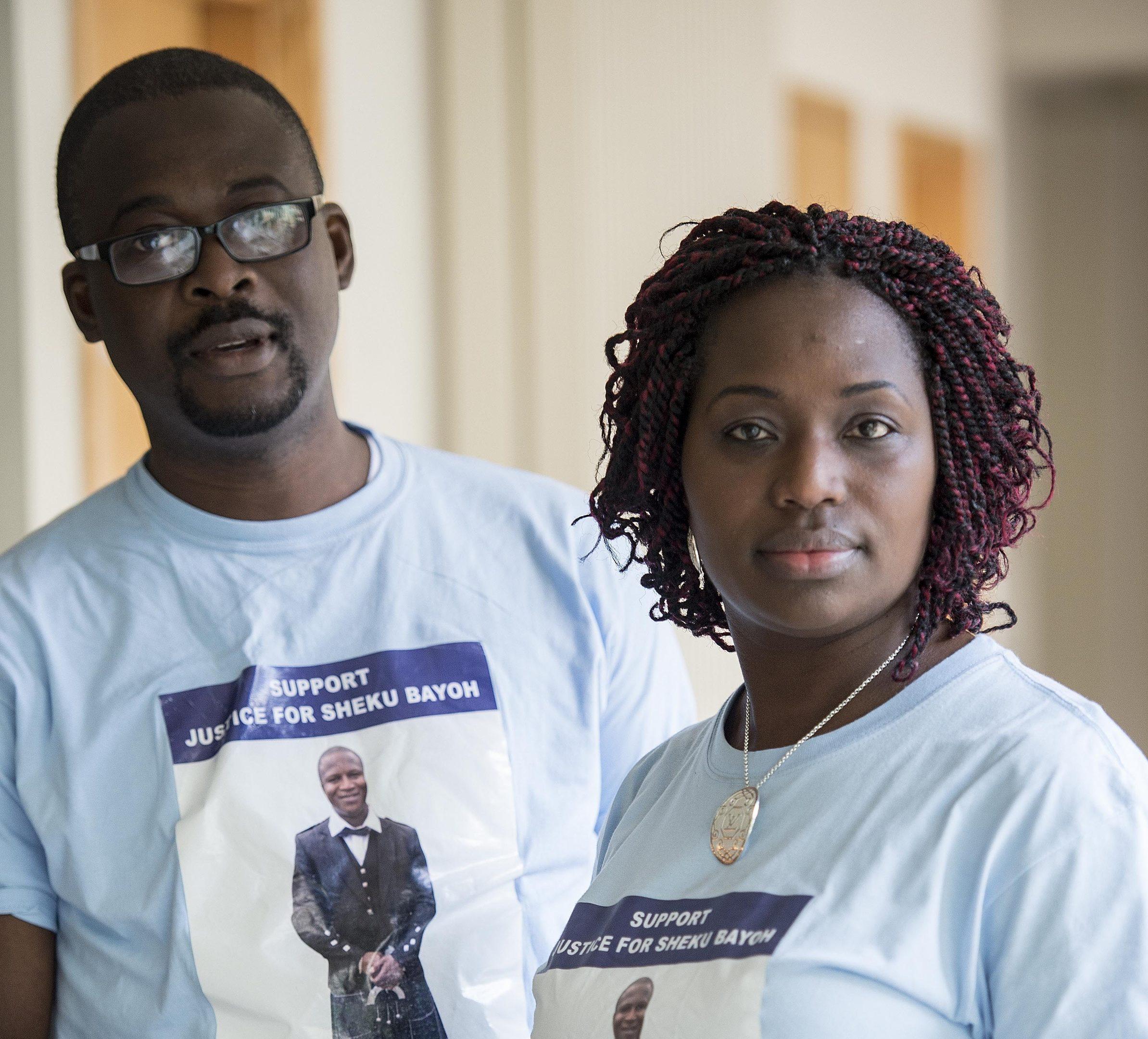 Family members Adeyemi Johnson (Brother in Law) and Kadijata Bayoh (sister) (Wattie Cheung)