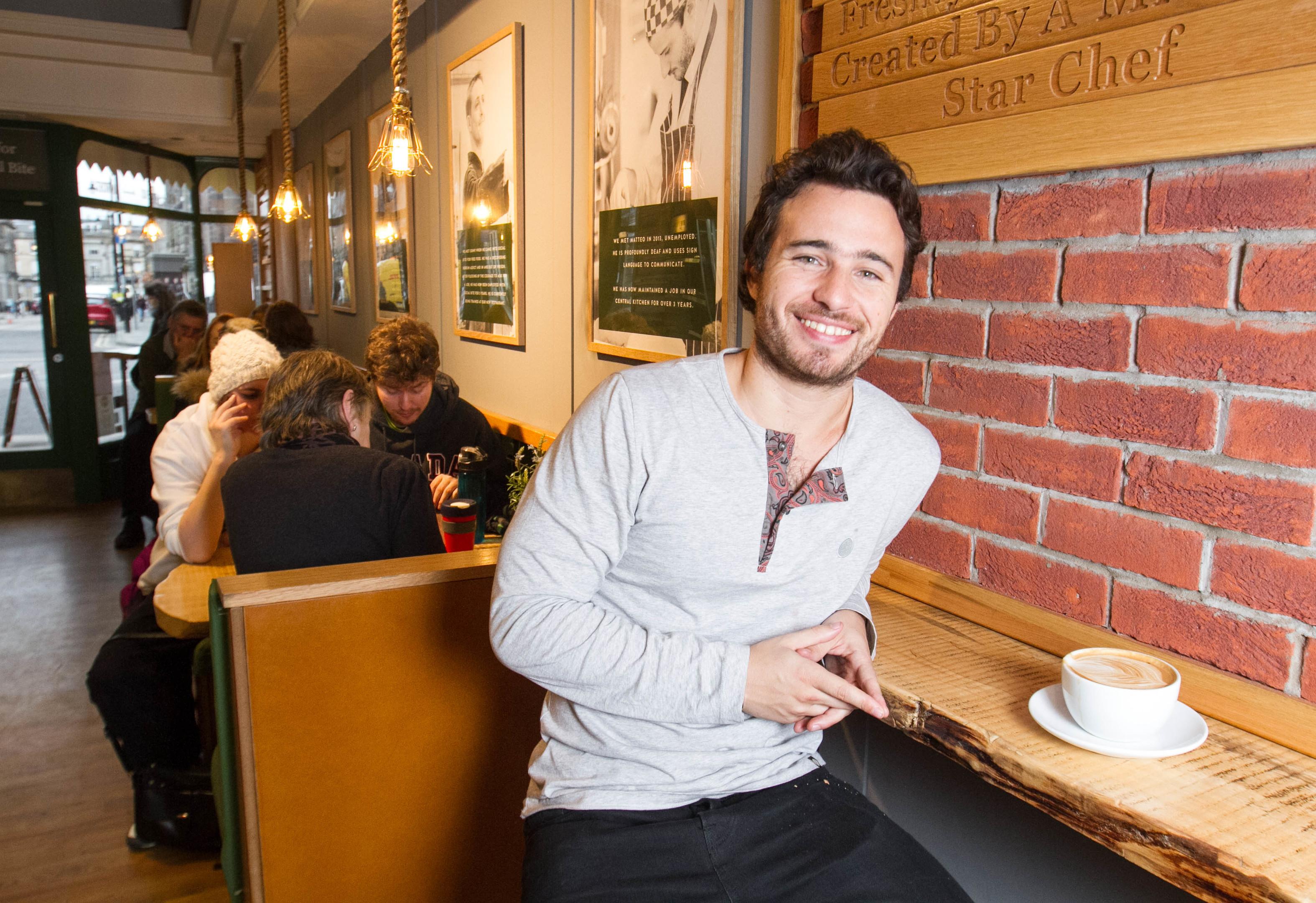 Josh Littlejohn MBE who runs Social Bite cafes in Edinburgh (DC Thomson)
