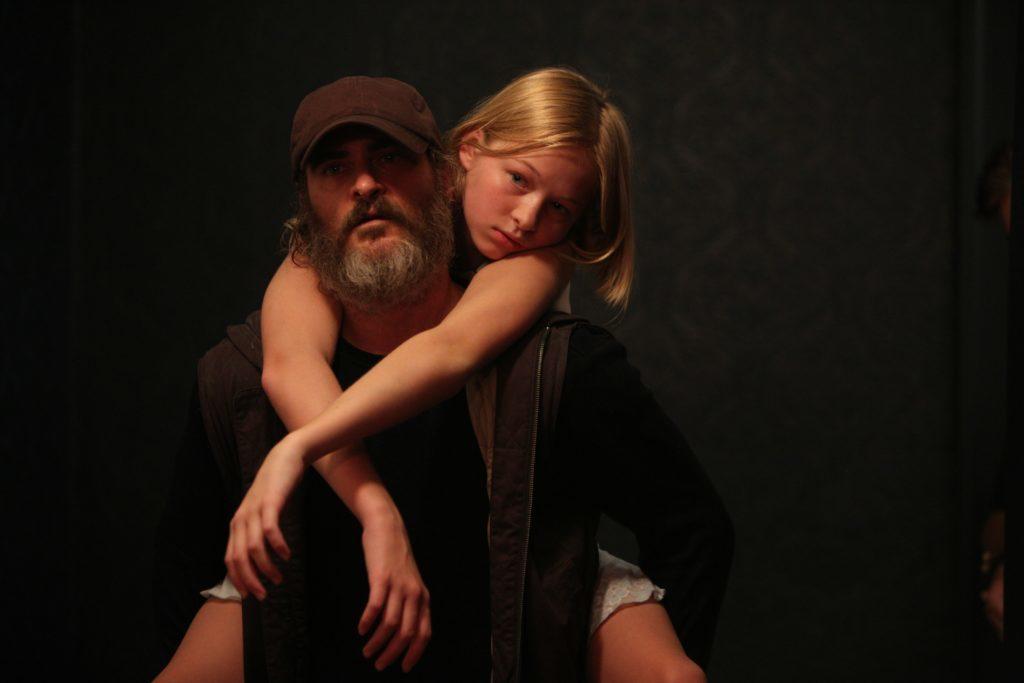 Joaquin Phoenix with Ekaterina Samsonov in You Were Never Really Here (StudioCanal)