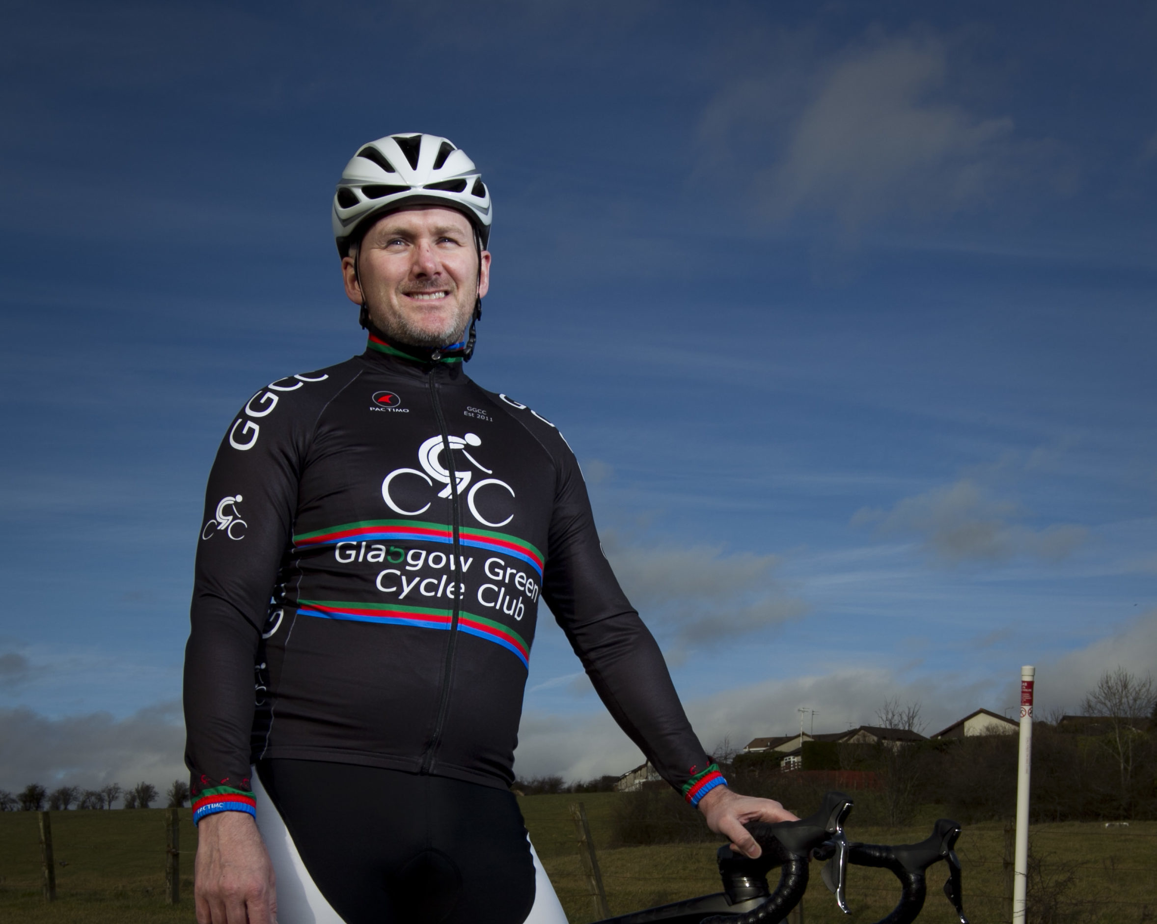 Andy Dobinson, a super fit, keen cyclist, who had a stroke a year ago. He is now on the mend and getting back on his bike. (Andrew Cawley/DC Thomson)