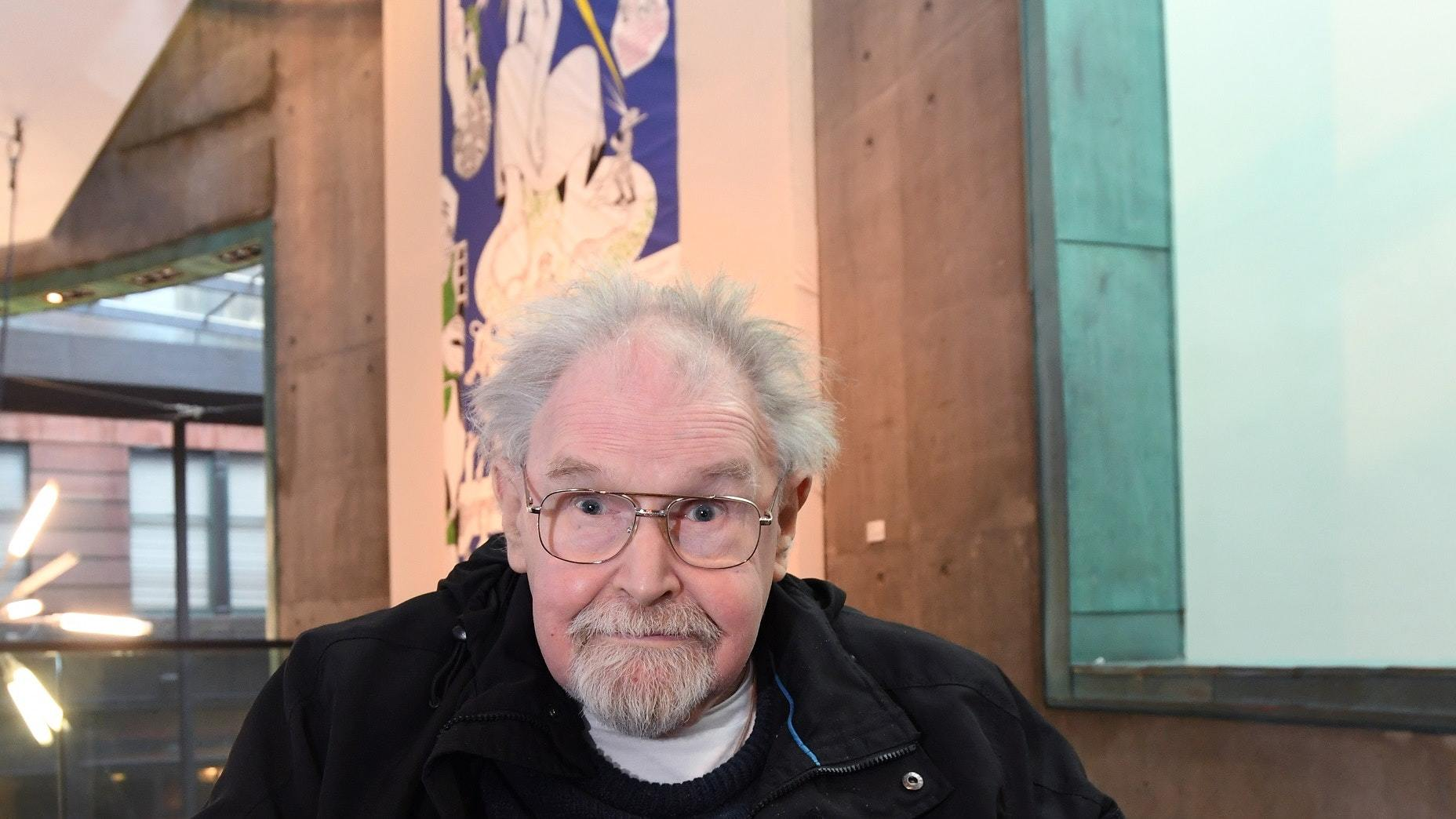 Alasdair Gray at the unveiling of the Facsimilization exhibition (Glasgow City Council/PA)