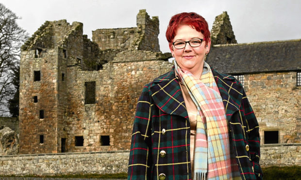 Shona Green at Aberdour Castle, near her home in Rosyth. (Andrew Cawley)