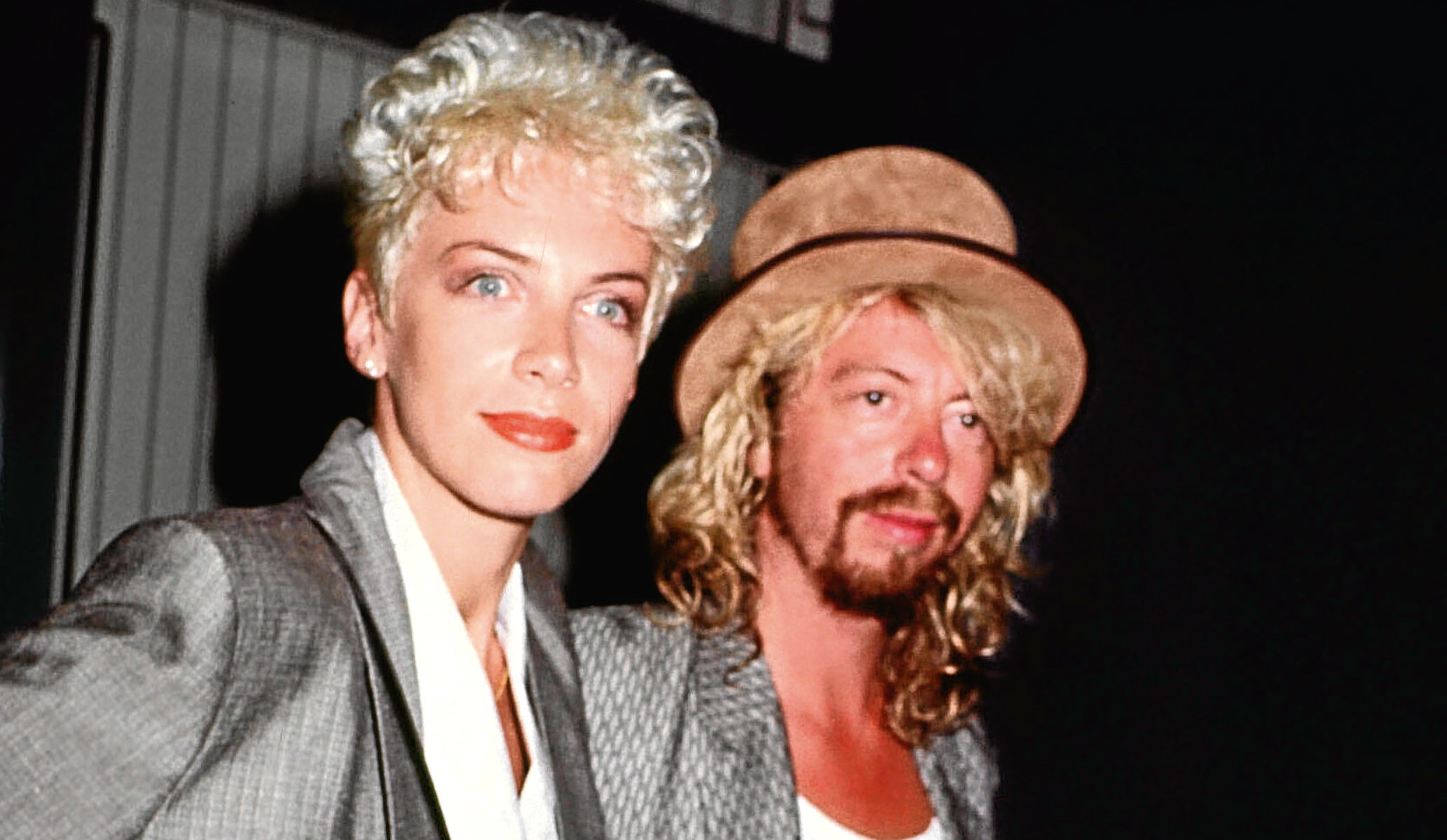 Annie Lennox and Dave Stewart of the Eurythmics in 1986 (Barry King/Alamy)