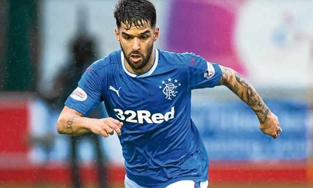 Daniel Candeias in action for Rangers (SNS)