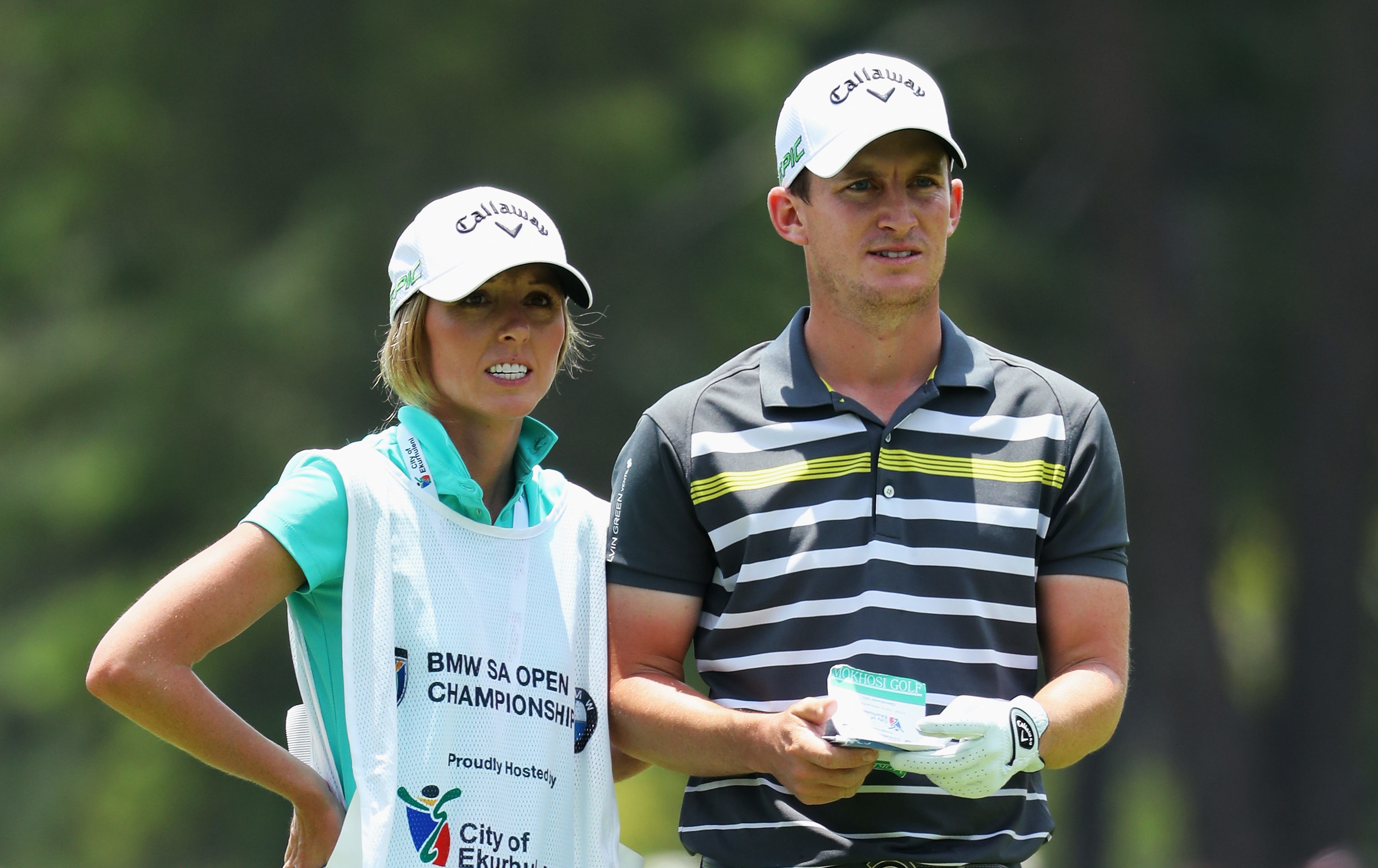 Chris Paisley and his wife Keri, who was his caddie in the BMW South African Open (Warren Little/Getty Images)