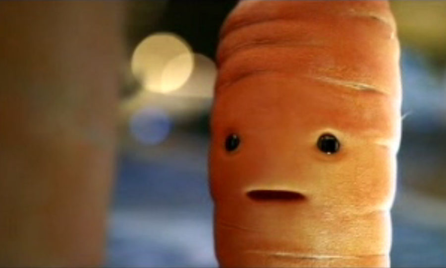 """The television ad, one in the supermarket's 12-part festive campaign, showed a computer-generated image of a carrot which began with it saying """"I see dead parsnips."""" (ASA/PA Wire)"""