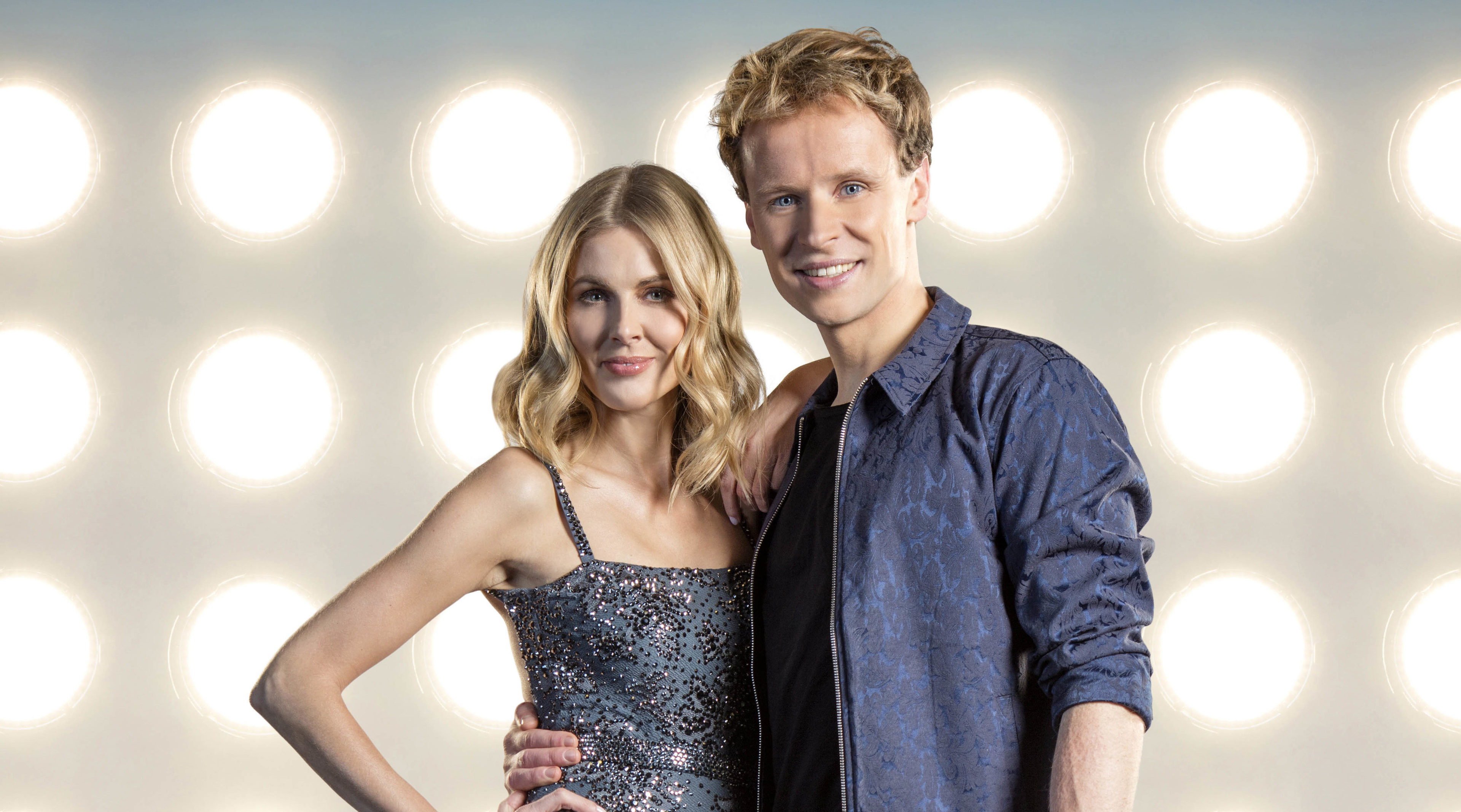 Mark Hanretty with skating partner Donna Air (ITV)