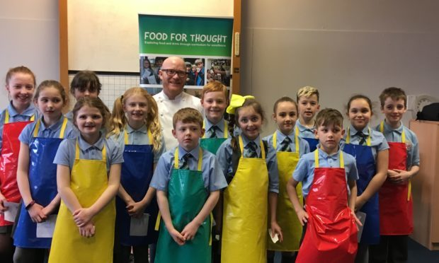Gary Maclean with the Our Lady of the Rosary SNAG group (Gillian Furmage/DC Thomson)