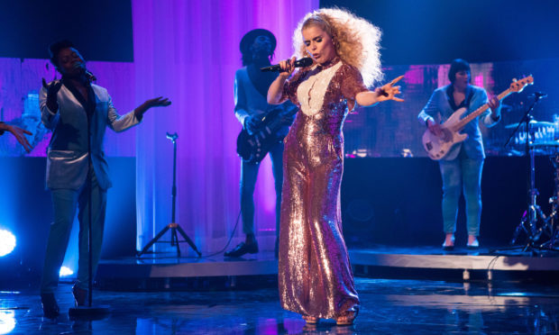 Paloma Faith performs during the filming of the Graham Norton Show (PA)