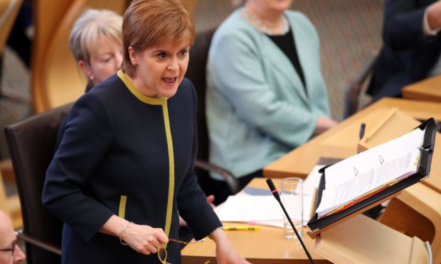 First Minister Nicola Sturgeon (Jane Barlow/PA Wire)