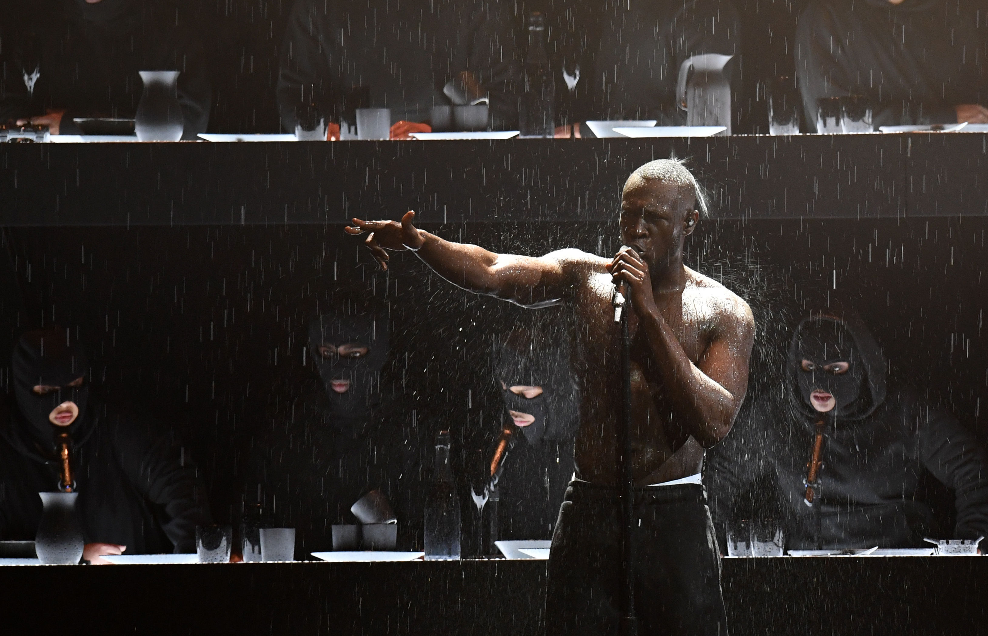 Rapper Stormzy's hard-hitting Brits performance (Victoria Jones/PA Wire)