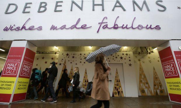 Debenhams store on Oxford Street, London (PA)