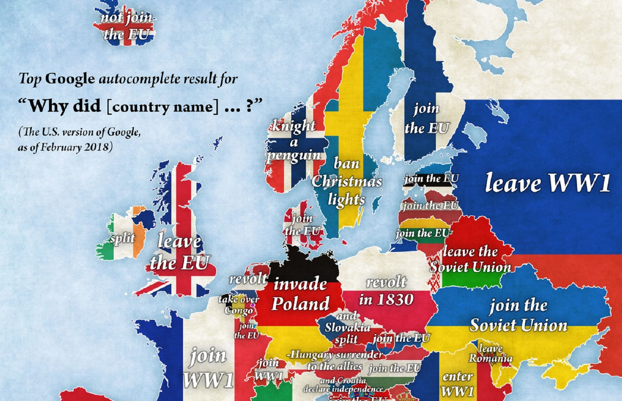Google autocomplete map of Europe reveals most-searched for ...