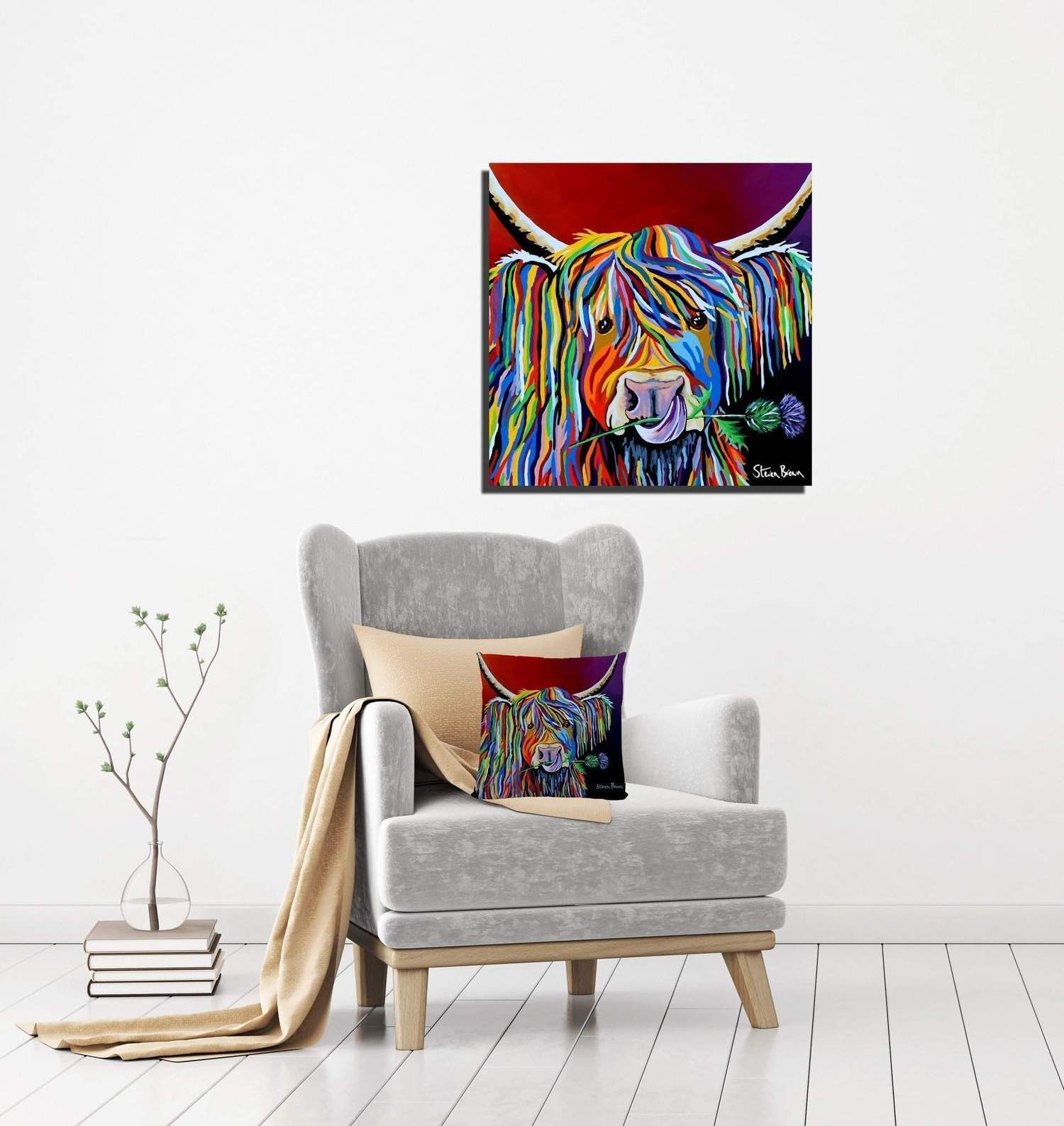 Lizzie McCoo 16x16 stretched canvas (Steven Brown Art)