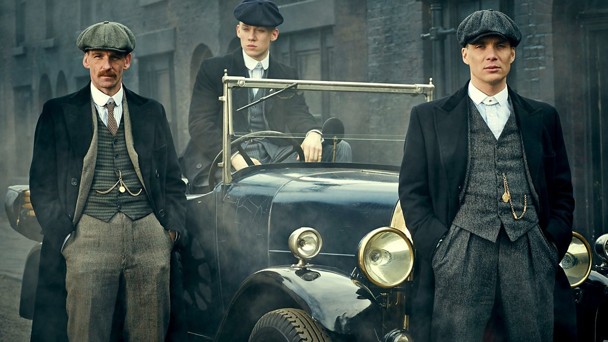 Paul Anderson, Joe Cole and Cillian Murphy in hit series Peaky Blinders as the Shelby gang who were involved in a turf war with Darby Sabini