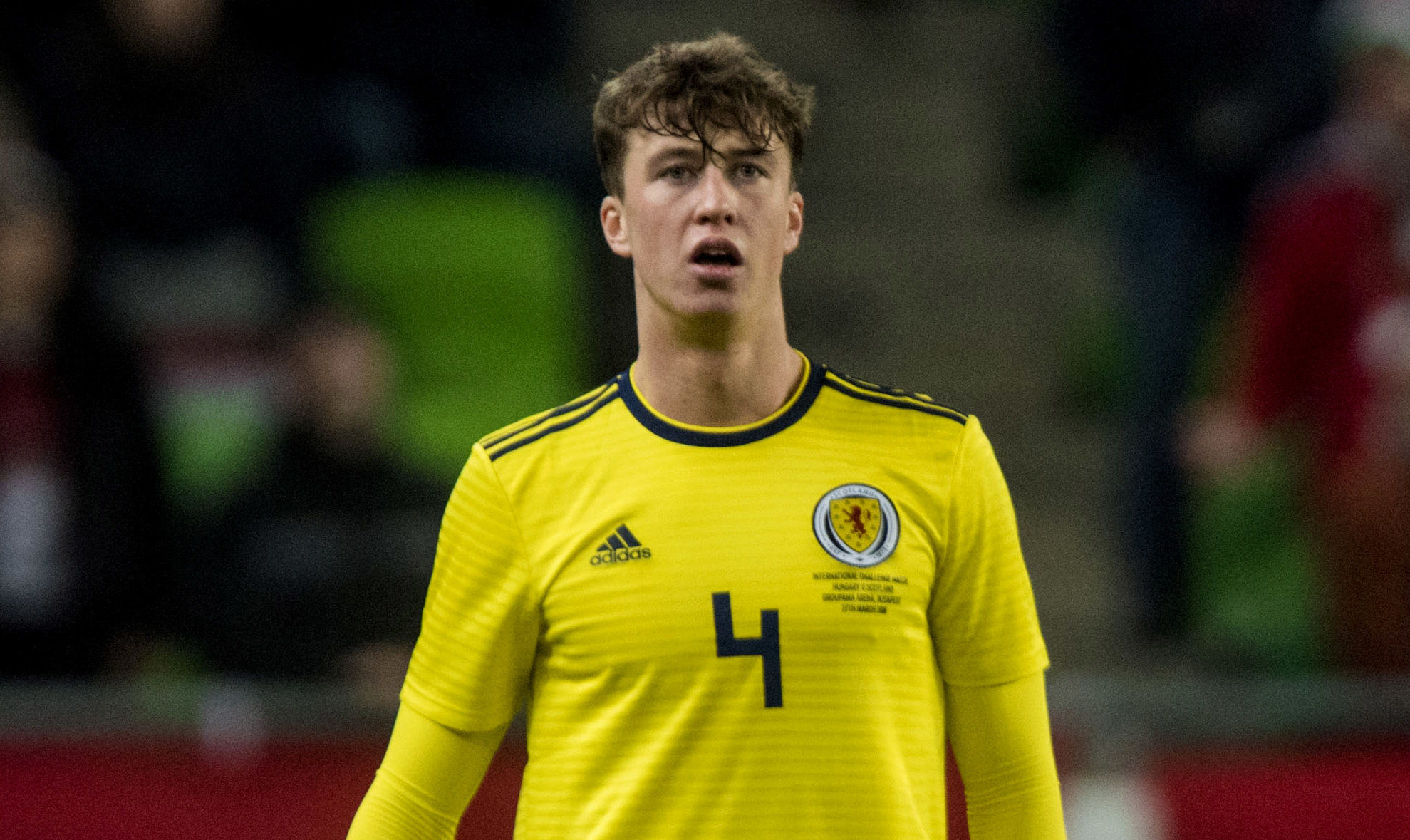Jack Hendry in action for Scotland (SNS Group / Alan Harvey)
