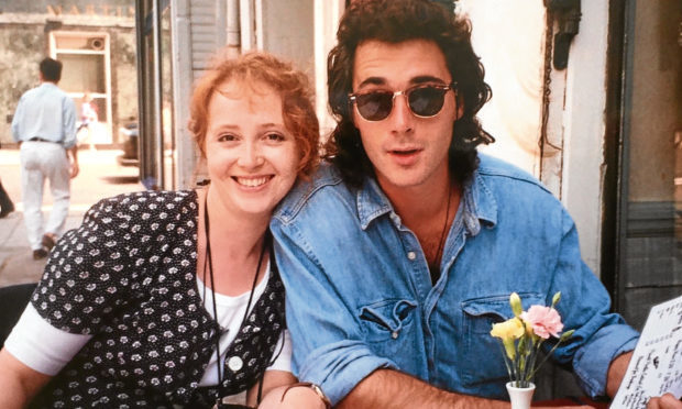 Greg Wise and his sister Clare in the mid 1980s. (Greg Wise/PA)