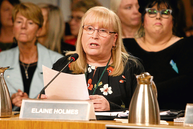 Mesh campaigner Elaine Holmes (Andrew Cowan/Scottish Parliament)