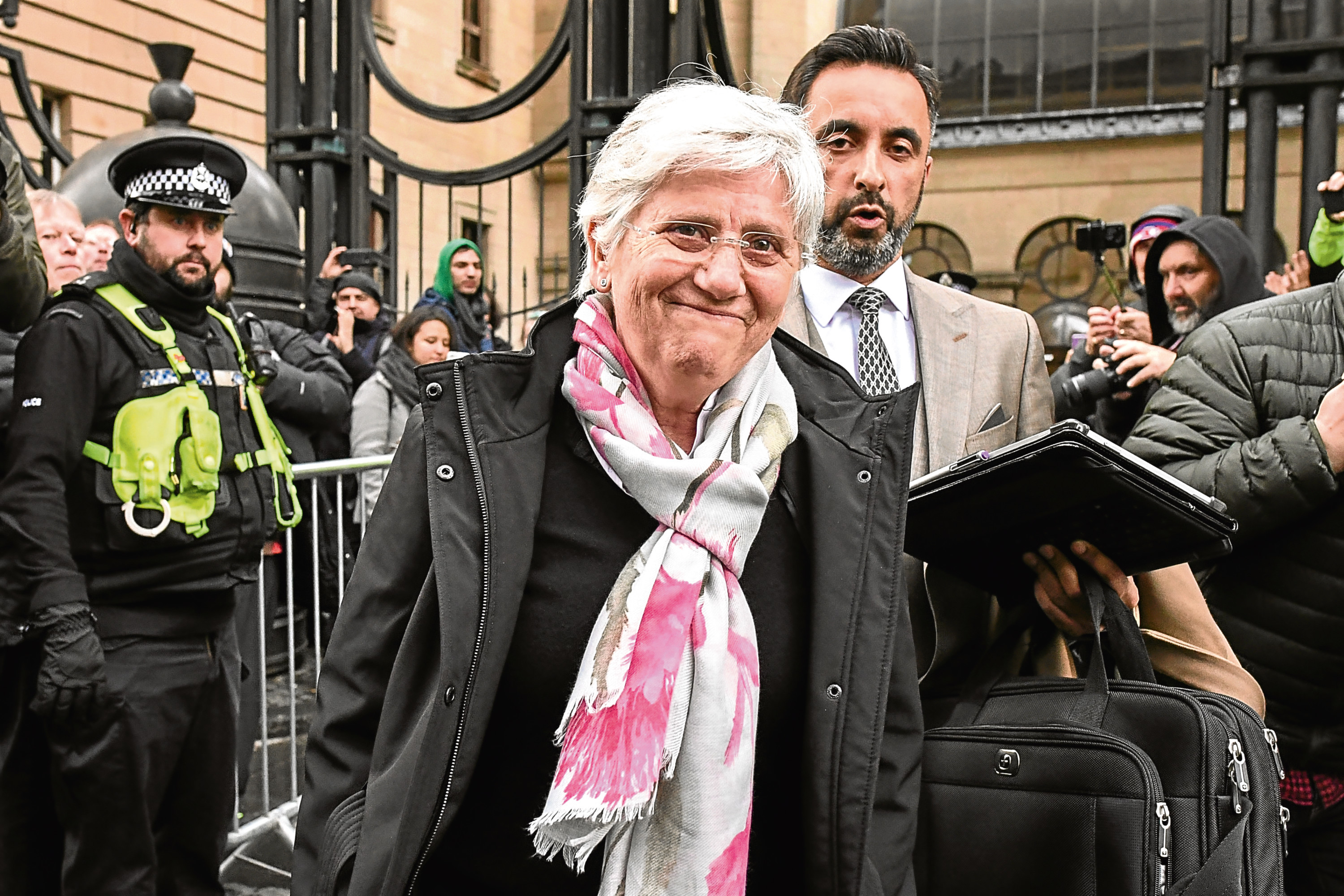 Clara Ponsati with lawyer Aamer Anwar  (Jeff J Mitchell/Getty Images)