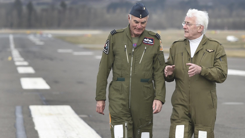 George Robertson (left) and Hamish MacLeod (Lesley Martin / PA)