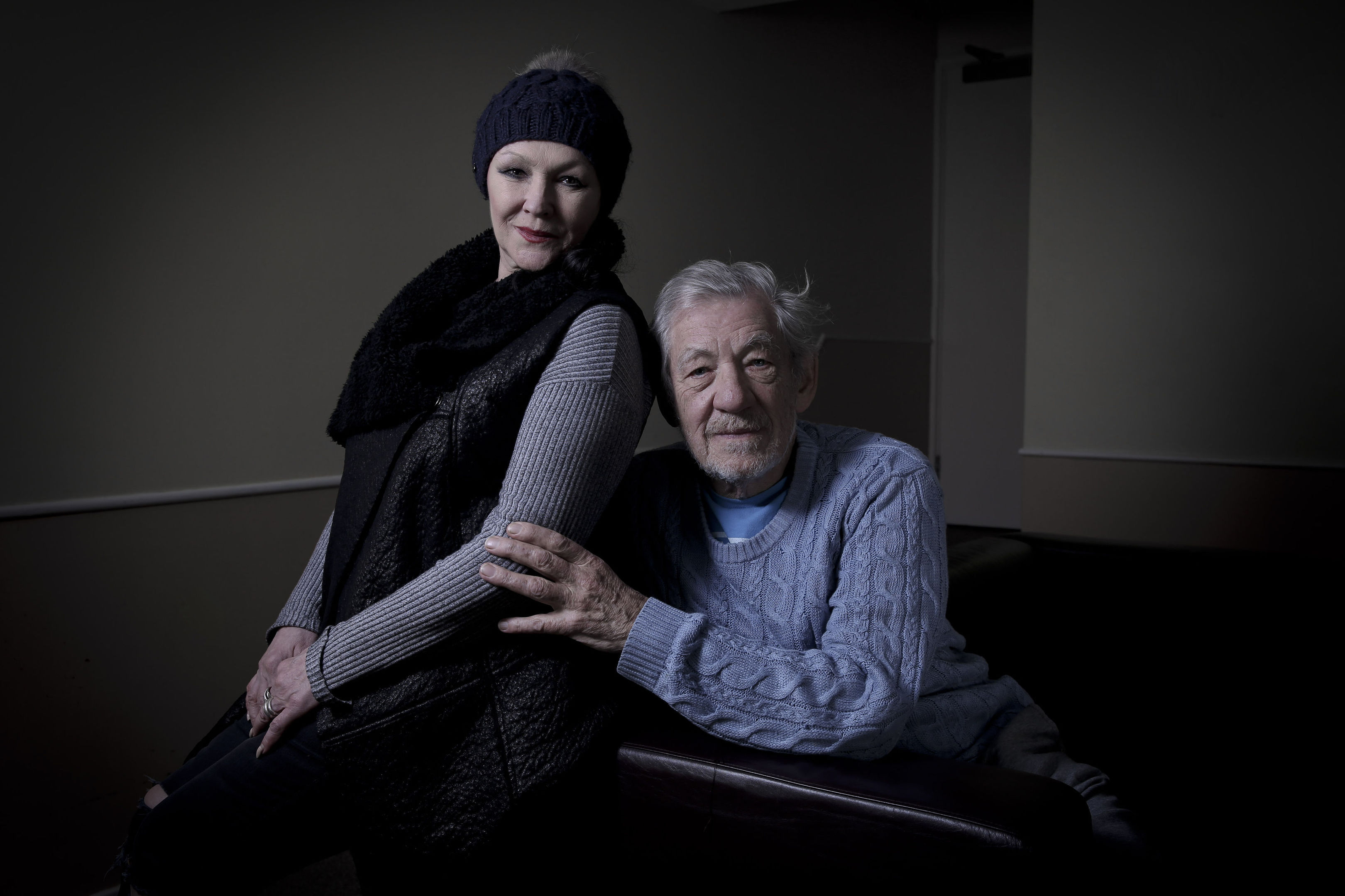 Sir Ian McKellen and Frances Barber, who will star in a new adaptation of Paradise Lost on Radio 4. (Tricia Yourkevich/BBC/PA Wire)