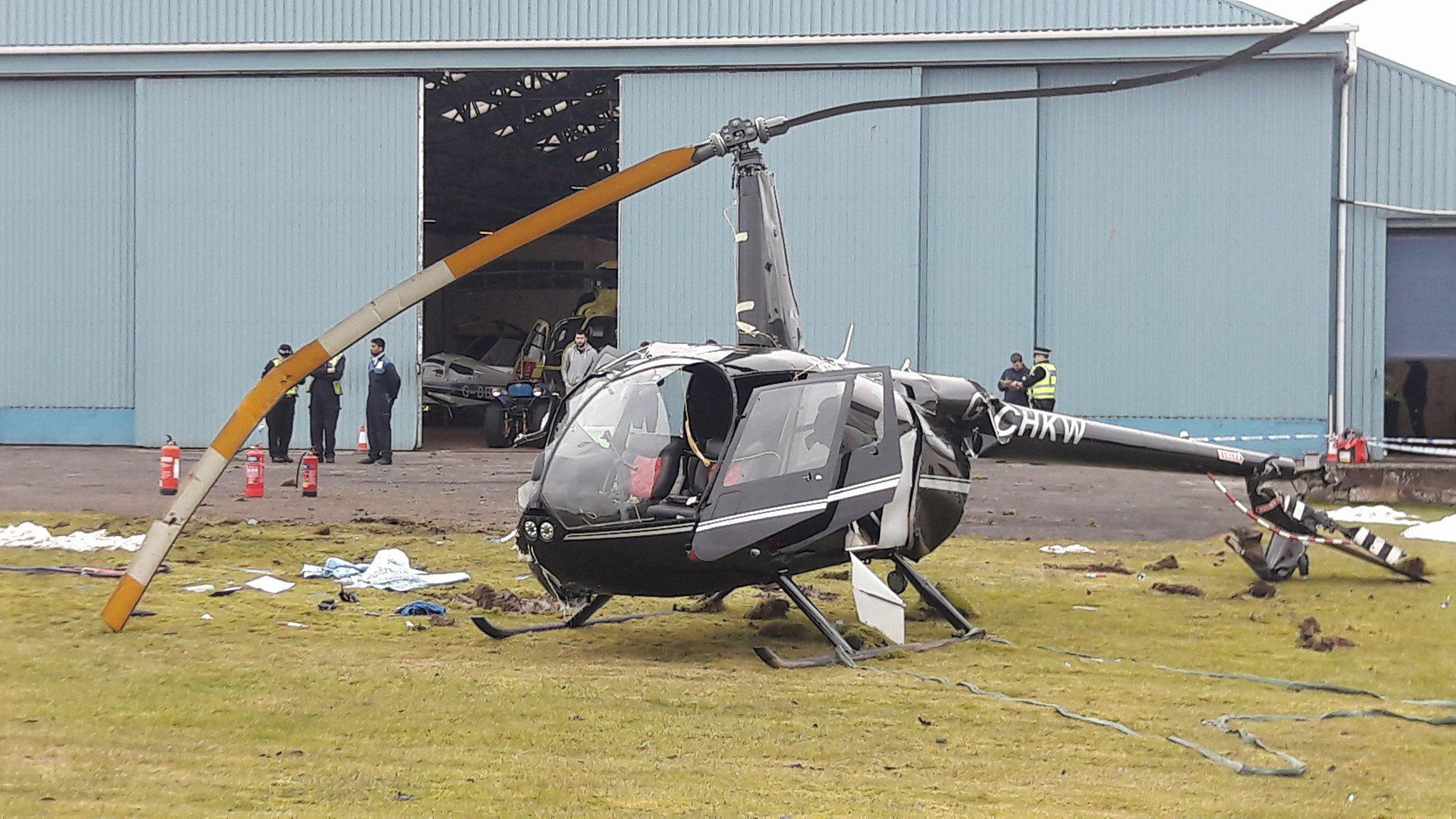 Helicopter crashes at Air Ambulance base at Perth Airport