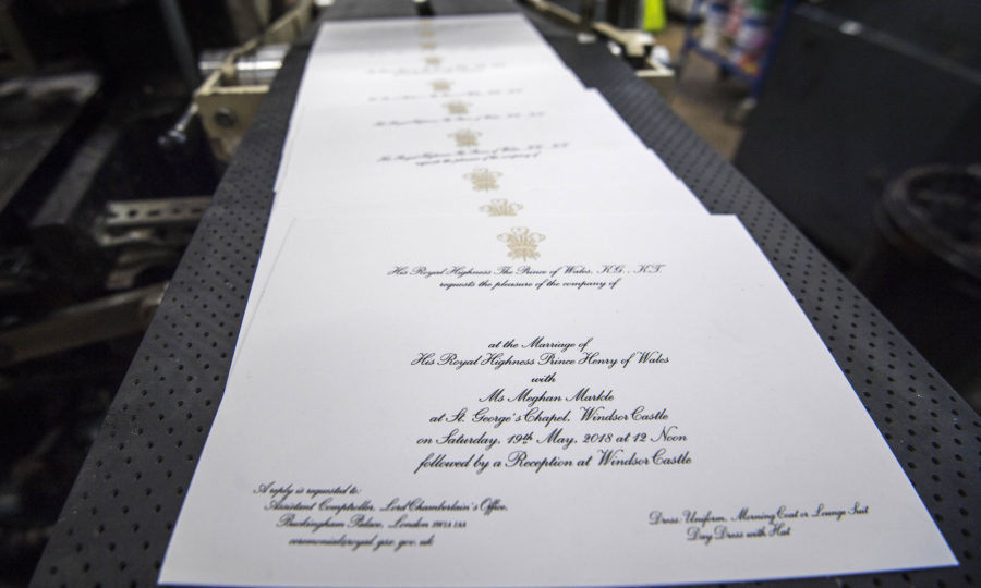 Invitations For Prince Harry And Meghan Markles Wedding In May Victoria Jones PA Wire