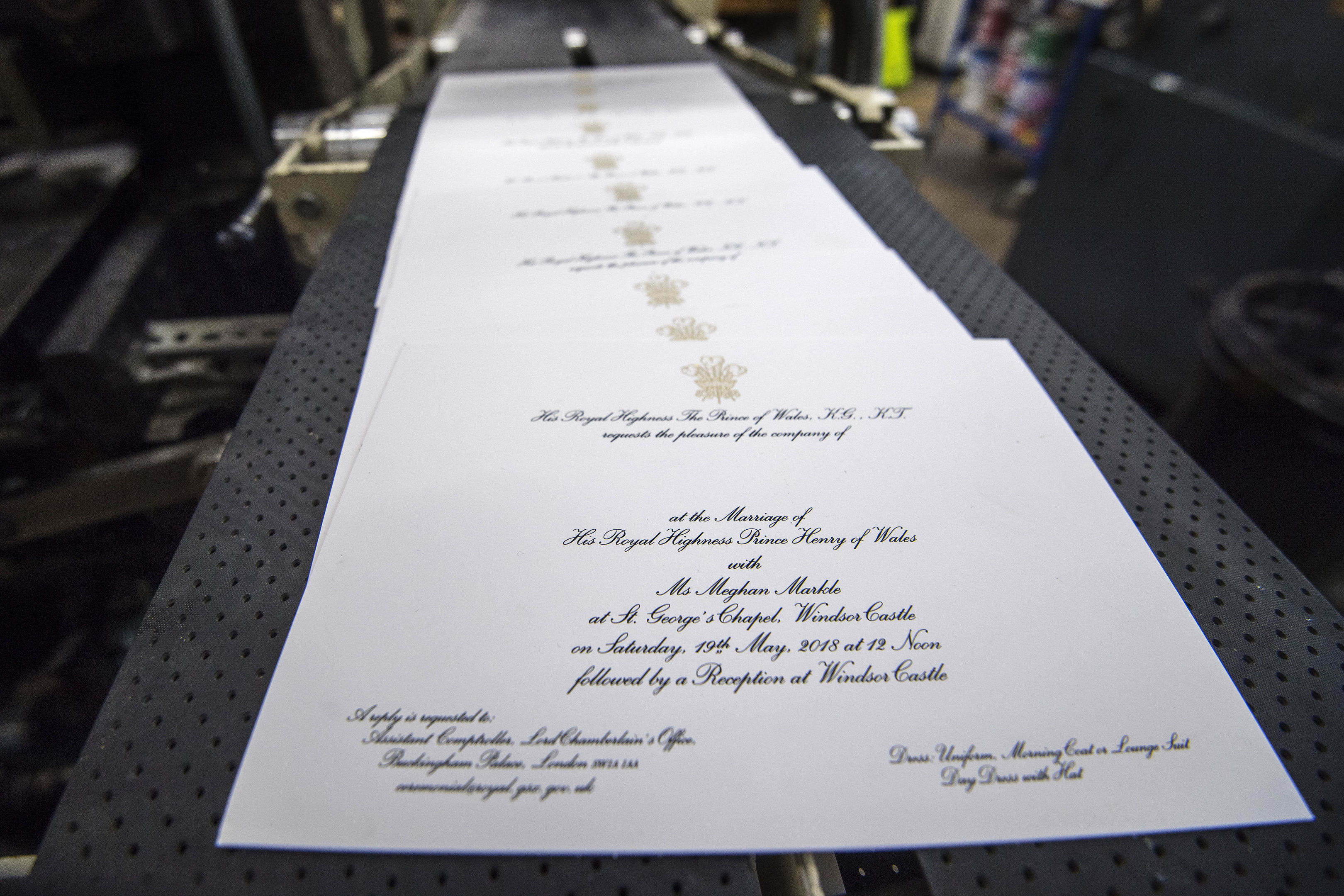In Pics Royal Wedding Invitations Issued Sunday Post