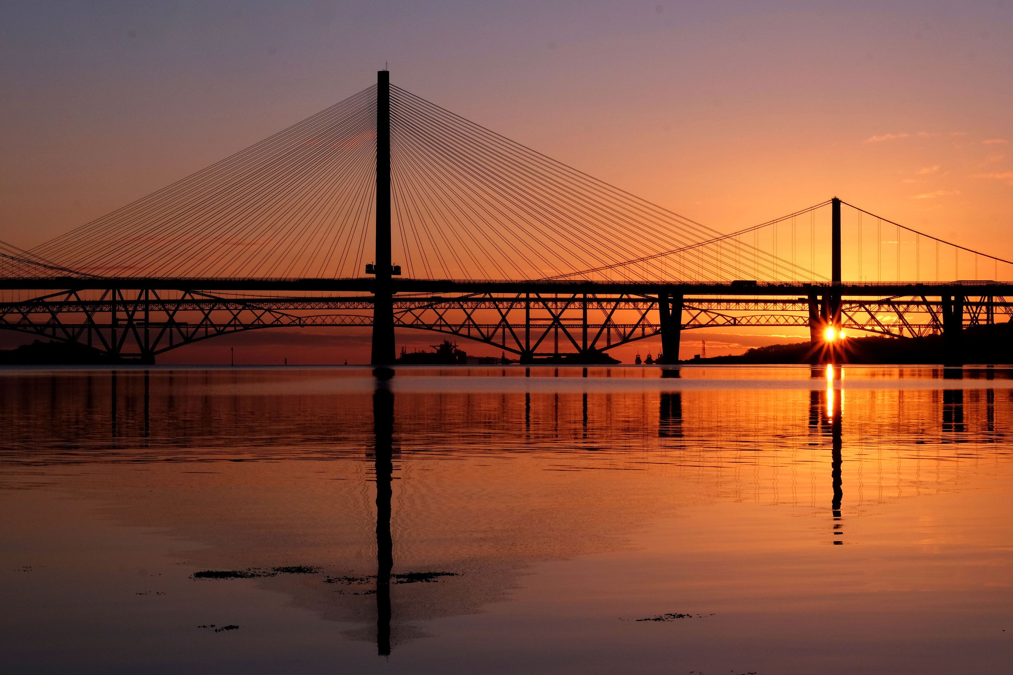 Sunrise over the Firth of Forth, South Queensferry (Jane Barlow/PA Wire)