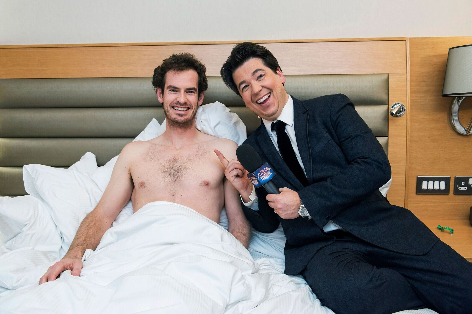 Andy Murray being woken up by Michael McIntyre for Sport Relief (BBC)