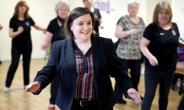 Strictly Come Dancing star Susan Calman launches the National Lottery Awards 2018 with a line dancing session (Jane Barlow/PA)