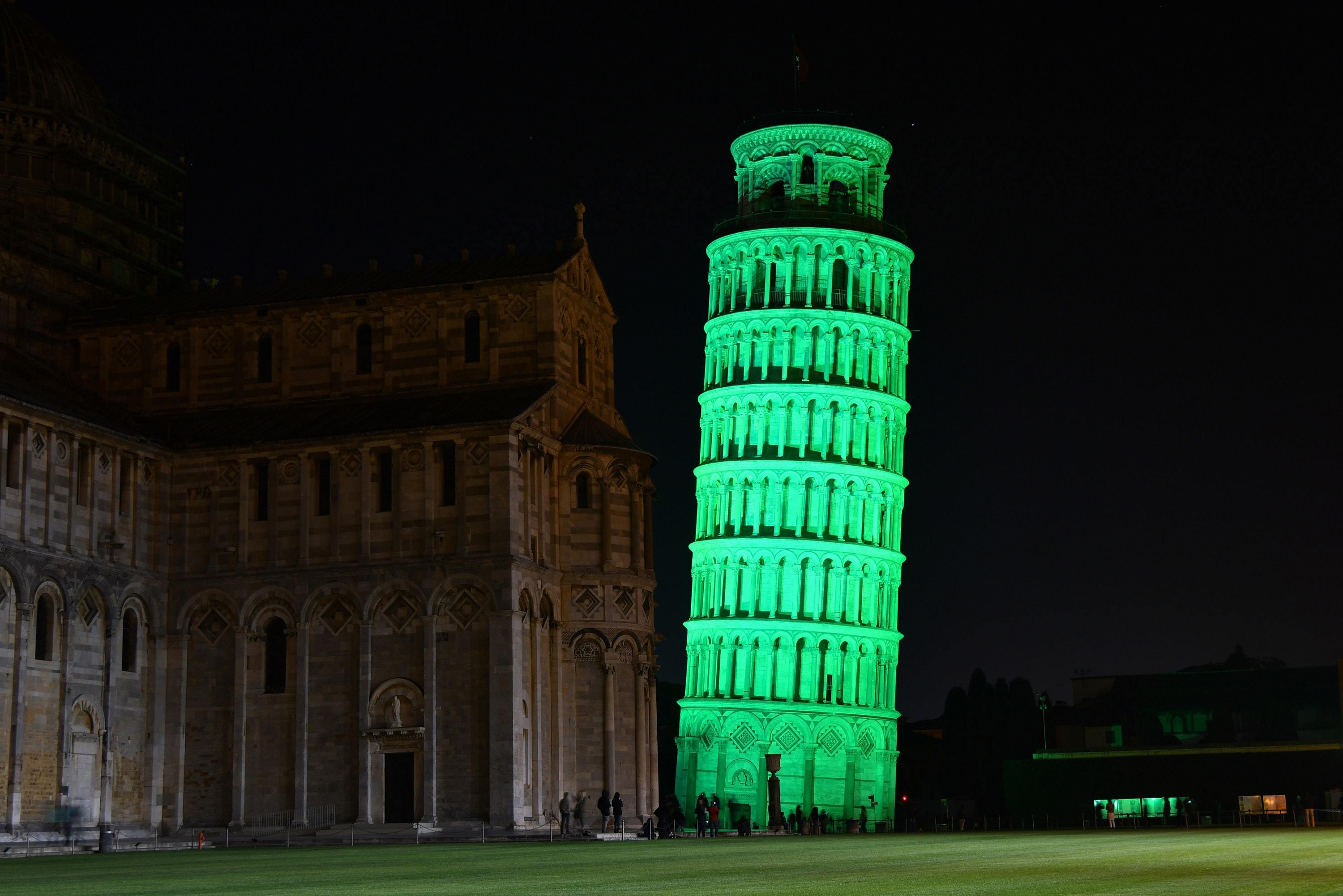 The Leaning Tower of Pisa joins Tourism Ireland's Global Greening initiative (Tourism Ireland/PA)