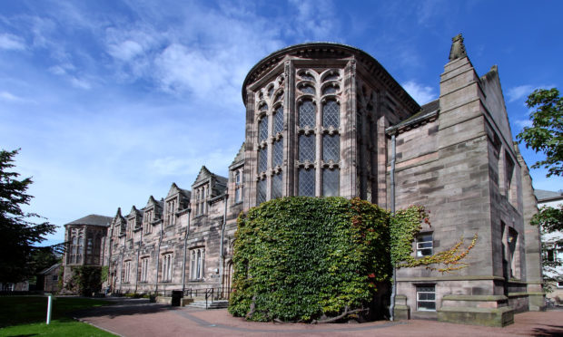 A senior member of staff at Aberdeen University has been recorded on video charging at students (Getty Images/iStock)