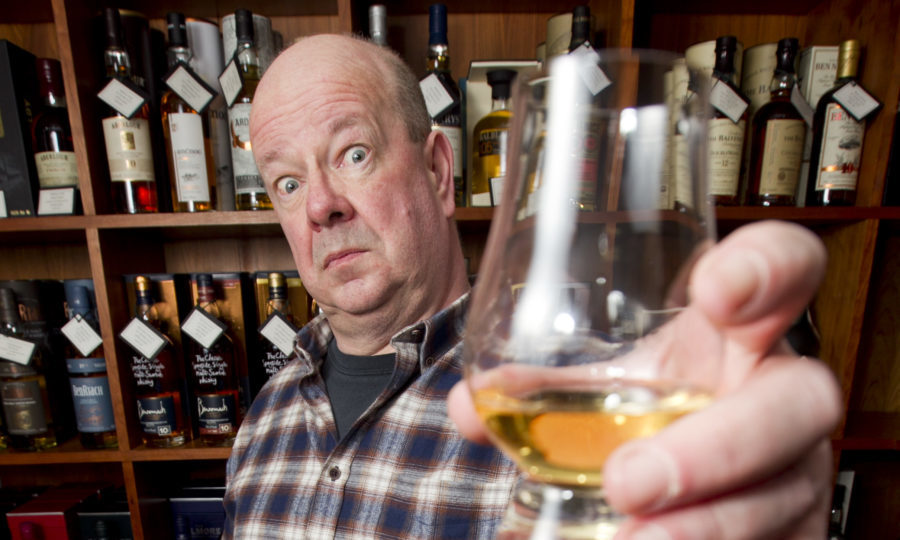Ian Gillan, who bought a special bottle of Ardbeg whisky, and found out it was going to cost him much more to be sent to his home in Blairgowrie, than it would if he lived in London. (Andrew Cawley/DC Thomson)