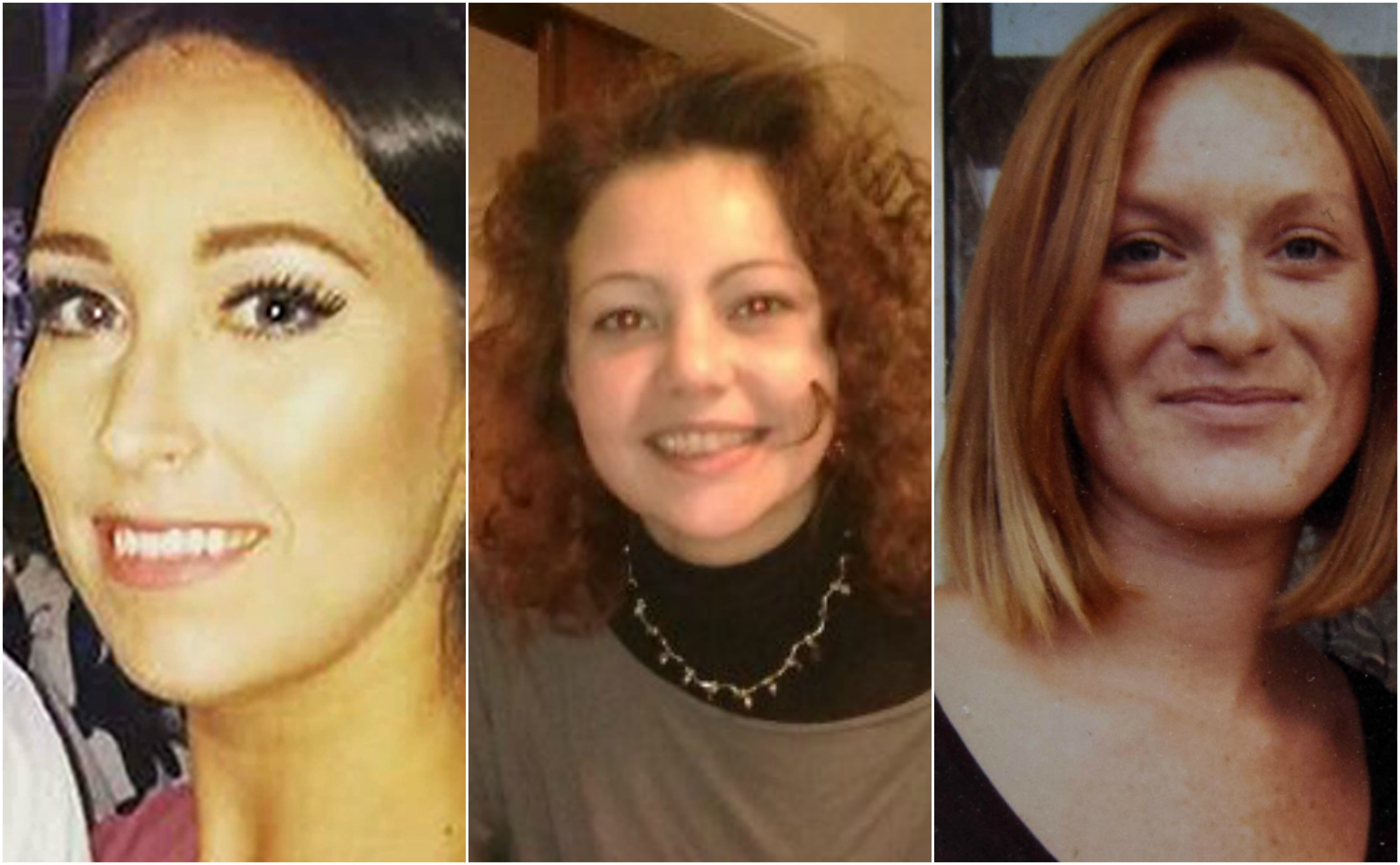 (left to right) Kirsty Maxwell, Julie Pearson and Lisa Brown  died abroad