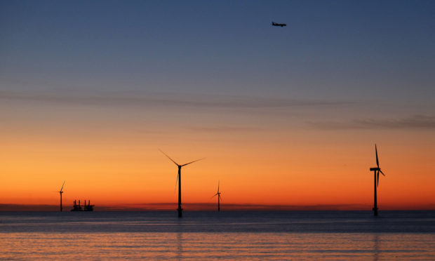 Analysis suggests that seabirds avoided wind turbines more than previously thought and that they changed their flight path to do so. (Owen Humphreys/PA Wire)