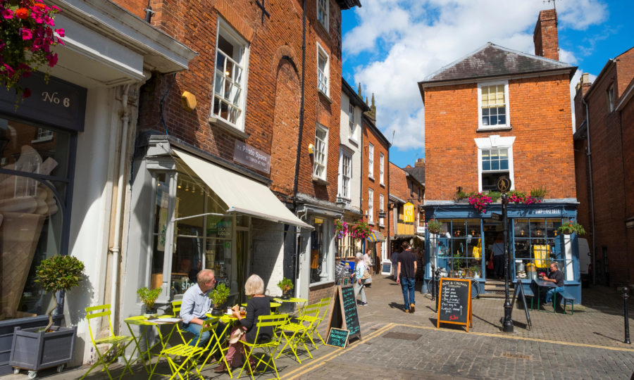 Church Street from Castle Square, Ludlow (MH Country / Alamy Stock Photo)