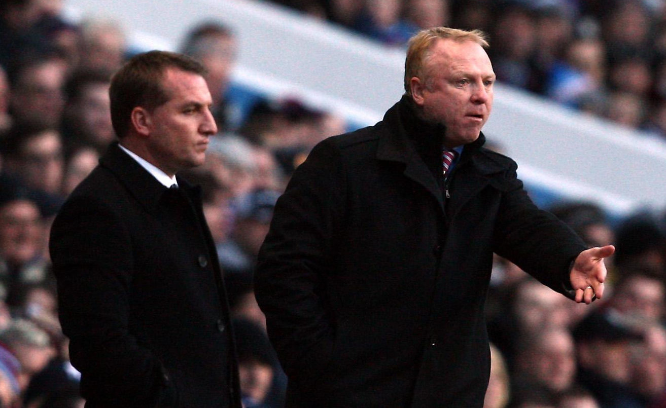 Alex McLeish and Brendan Rodgers (PA)