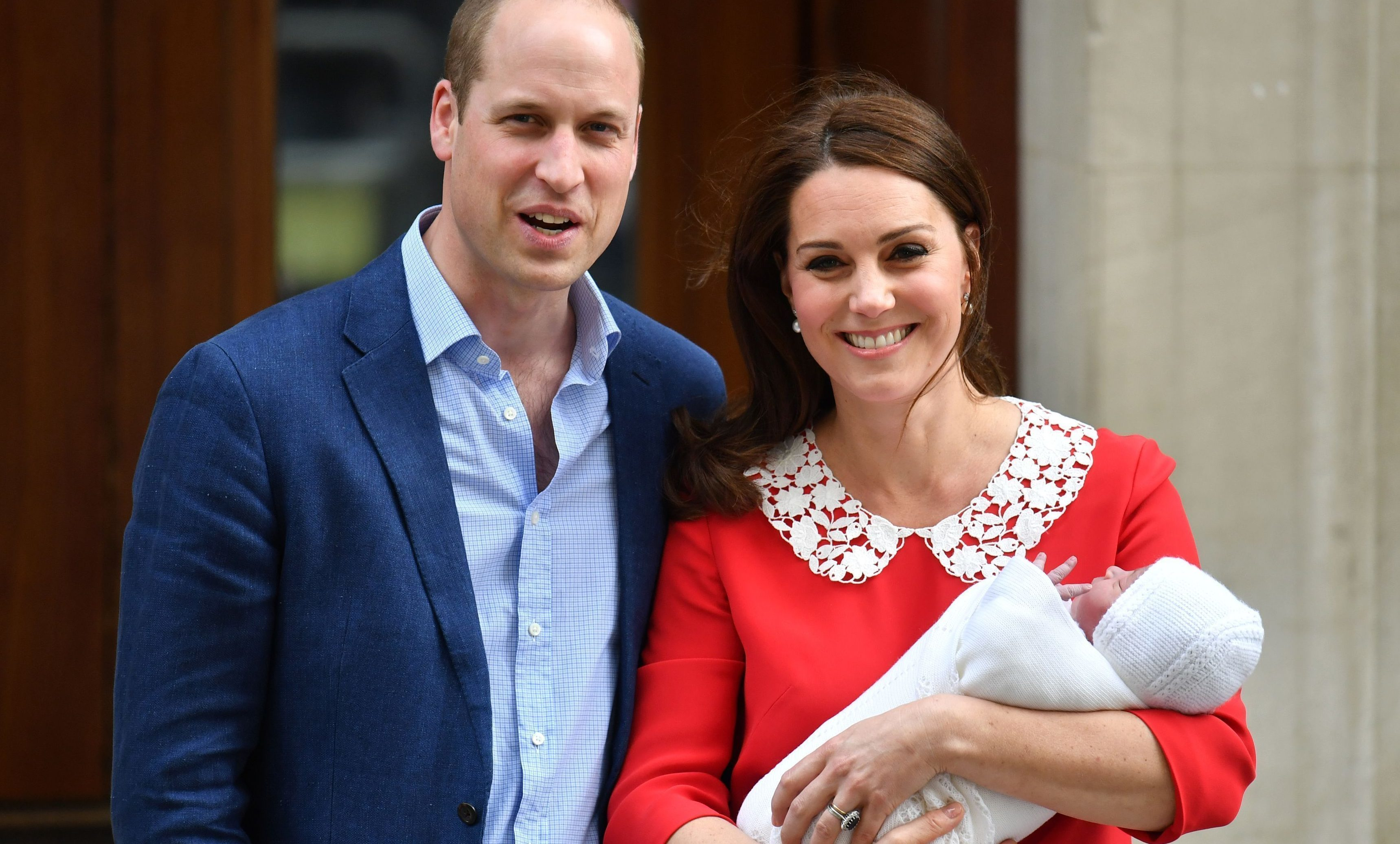 The Duke and Duchess of Cambridge leaving the St Mary's Hospital, with their newborn son (John Stillwell/PA Wire)